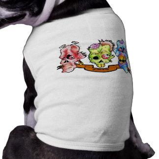 ¡Los tres ningunos males! - Camiseta del perrito Playera Sin Mangas Para Perro