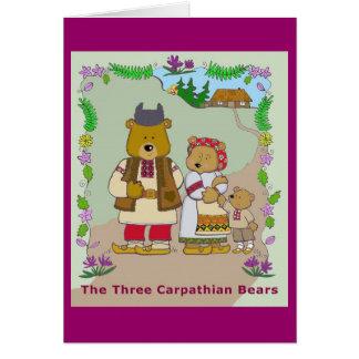 Los tres osos cárpatos tarjeta pequeña
