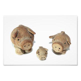 Los tres pequeños cerdos arte fotográfico