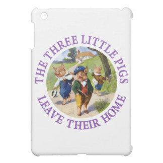 Los tres pequeños cerdos salen de su hogar
