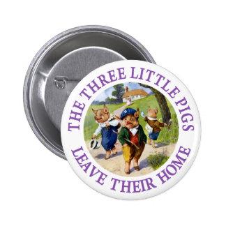 Los tres pequeños cerdos salen de su hogar pin