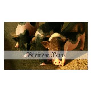 Los tres pequeños cerdos plantillas de tarjetas personales