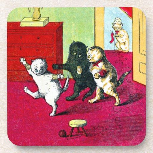 Los tres pequeños gatitos posavaso