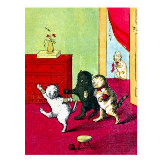 Los tres pequeños gatitos tarjetas postales