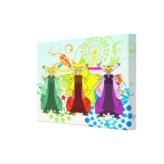 Los Tres Reyes Magos/Three Wise Men Wrapped Canvas