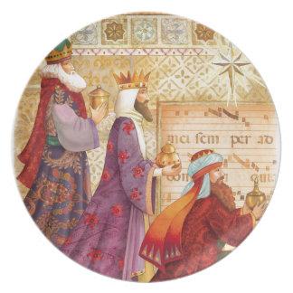 Los tres reyes plato de comida