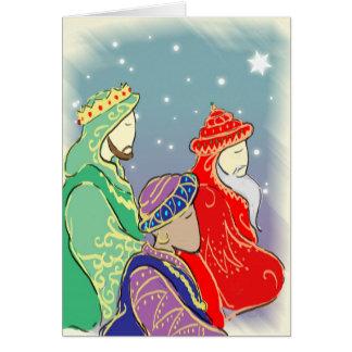 Los Tres Reyes Tarjeta De Felicitación