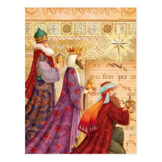 Los tres reyes tarjeta postal