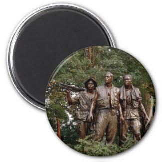 Los tres soldados imán redondo 5 cm