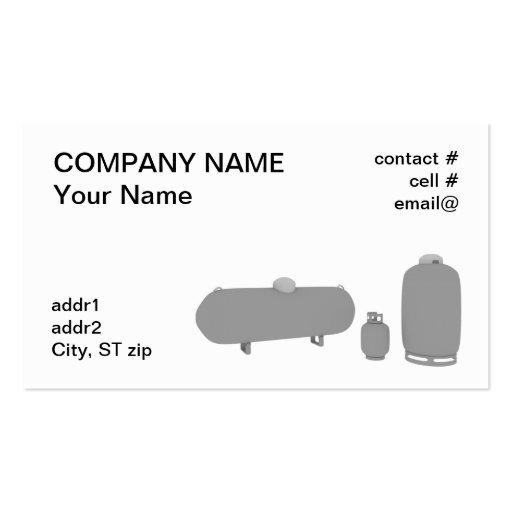 los tres tanques de propano plantillas de tarjeta de negocio