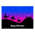 Los tres Wisemen, felices Navidad Tarjeta De Visita
