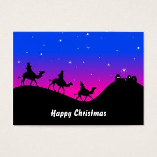 Los tres Wisemen, felices Navidad Tarjetas De Visita Grandes