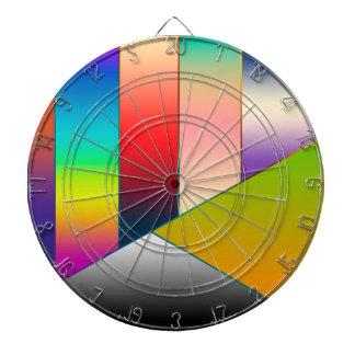 Los triángulos de las rayas del MOSAICO colorearon Tablero De Dardos