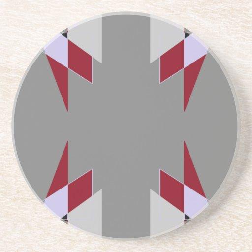 Los triángulos de TRE 4 resumen blanco gris del ro Posavasos Para Bebidas