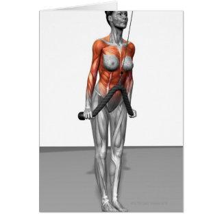Los tríceps empujan plumones tarjeta de felicitación