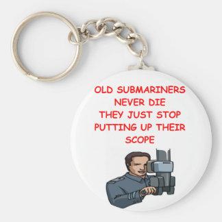 Los tripulantes de submarino nunca mueren llavero redondo tipo pin
