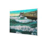 Los trituradores y la playa de PierLong del placer Impresión En Lienzo