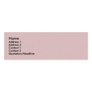 Los troncos rosados antiguos atractivos ajustan en tarjeta de visita