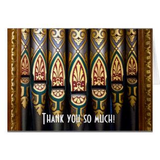 Los tubos de órgano bonitos le agradecen cardar tarjeta de felicitación
