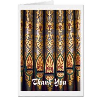Los tubos de órgano le agradecen cardar tarjeta de felicitación