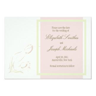 """Los tulipanes agraciados ahorran la tarjeta de invitación 5"""" x 7"""""""