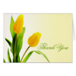 Los tulipanes amarillos le agradecen cardar tarjeta