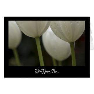 Los tulipanes blancos le quieren sean mi tarjeta