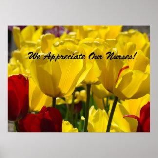 ¡Los tulipanes del poster de la semana de las enfe
