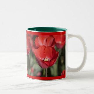 Los tulipanes rojos de Allan Taza De Café