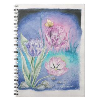 Los tulipanes vespertinos note book