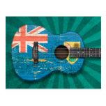 Los turcos y Caicos señalan la guitarra acústica p Postal