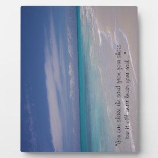 ¡Los turcos y el Caicos - la playa! Placa De Plastico