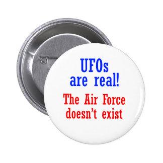 Los UFO son reales Pin Redondo 5 Cm