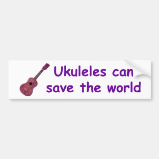 Los Ukuleles pueden ahorrar el mundo Pegatina Para Auto