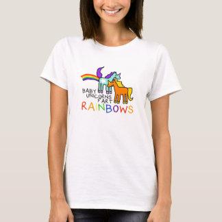 Los unicornios del bebé Fart camiseta de los arco