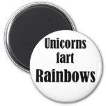 Los unicornios fart los arco iris imán para frigorifico