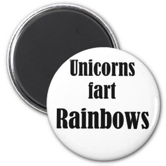 Los unicornios fart los arco iris imán redondo 5 cm