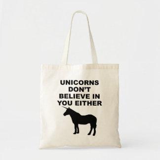 Los unicornios no creen en usted bolsa tela barata