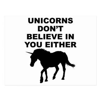 Los unicornios no creen en usted postal