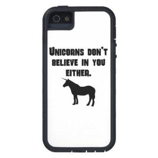 Los unicornios no creen en usted tampoco iPhone 5 funda