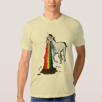 Los unicornios Puke los arco iris Camisas