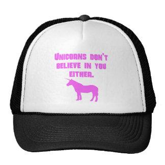 Los unicornios rosados no creen en usted tampoco gorros bordados