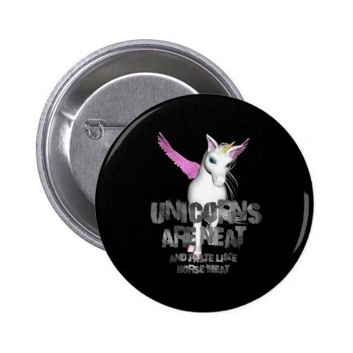 Los unicornios son aseados y gusto como el carne d pin redondo de 2 pulgadas