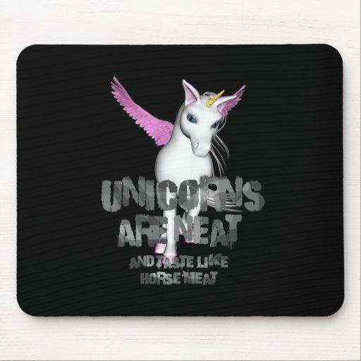 Los unicornios son aseados y gusto como el carne d tapetes de ratón