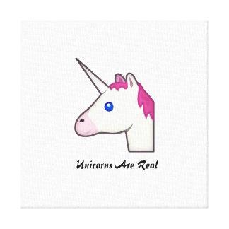 ¡Los unicornios son lona real! Lienzo Envuelto Para Galerias