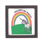 Los unicornios son mágicos caja de regalo de calidad