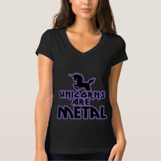 Los unicornios son metal camisas