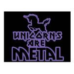 Los unicornios son metal tarjeta postal