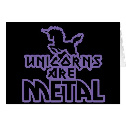 Los unicornios son metal tarjetas