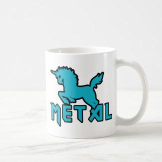 Los unicornios son metal taza básica blanca